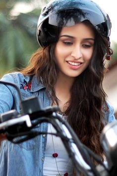 Shraddha Kapoor With Bike
