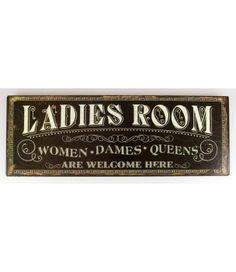 Tabliczka, szyld metalowy ladies room