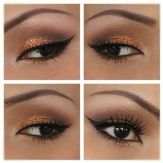 Bronze Glitter eyes by Promise Phan
