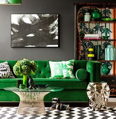 green, black&white, golden metal. art deco