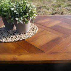 Table Basse Parquet Rectangle Pieds Bois