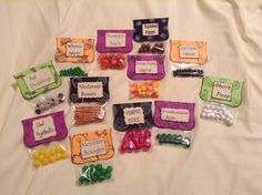 Halloween candy with sayings
