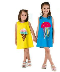 Applique dresses