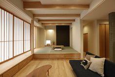 写真03|I様邸/プレジール/トラッド(H29.2.21更新) Japanese Modern, Japanese House, Wooden Beams Ceiling, Tatami Room, Japanese Interior Design, Japanese Architecture, Modern Traditional, House Roof, House In The Woods
