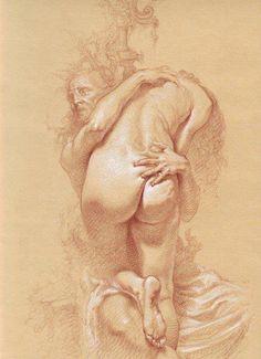 Roberto Ferri. drawing study.