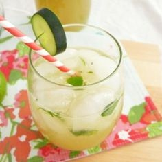 Cucumber and Mint Cocktail … has me yearning for sunshine!