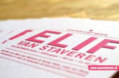 Detail - Birth announcement #letterpress by #suusontwerpt -suusontwerpt.nl