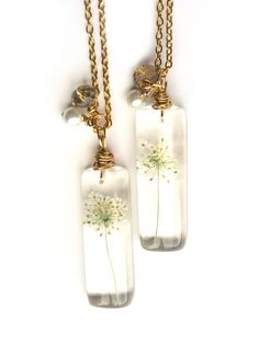 Real Queen's Anne Lace Necklace Real Flowers by ScrappinCop