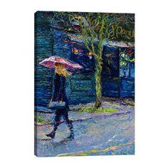 "JaxsonRea ""Old Pequliar"" by Iris Scott Painting Print on Wrapped Canvas Size: 42"" H x 28"" W x 1.5"" D"