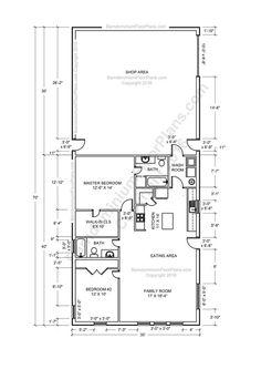 Barndominium Floor Plans, Pole Barn House Plans And Metal Barn Homes |  Barndominium Floor Plans