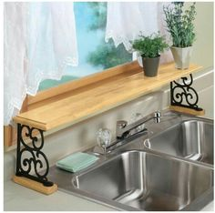 Love a clever use of space! 👍🏼     kitchen sink storage ideas