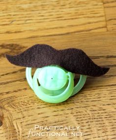 DIY Mustache Pacifiers: 10 minute baby shower gift!