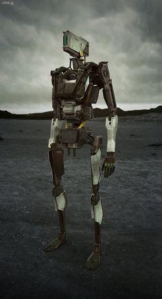 Droid A, Vitaly Lesnykh on ArtStation at https://www.artstation.com/artwork/droid-a