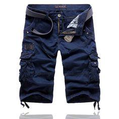 Multi-pocket Cargo Shorts Men 2017 New Mens Casual Cotton Shorts Male Loose Work Shorts Man Military Short Pants Plus Size 29-38