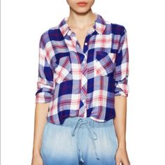 NWT Rails plaid red and blue shirt Brand new with tags Rails Tops Button Down Shirts