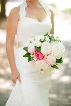 Chic Seaside Bald Head Island Wedding - Style Me Pretty