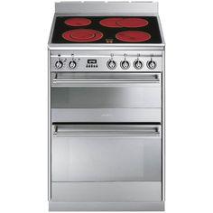 Smeg SUK62CMX8 Double Oven 60cm Concert Cooker Stainless Steel £749 - RRP: £1,099