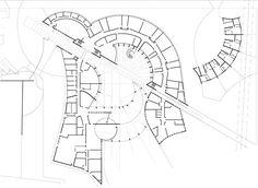 Ricardo Porro and Renaud de La Noue, architects │ College 600 , Architecture Presentation Board, Concept Architecture, School Architecture, Architecture Design, Design Maternelle, School Floor Plan, Hotel Floor Plan, Kindergarten Design, Archi Design