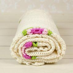 Hand made crochet baby blanketHand made crochet baby blanket