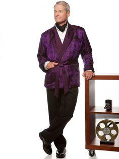 Lounging jacket - comfortable silk smoking jacket style. Photo by Levy Moroshan.