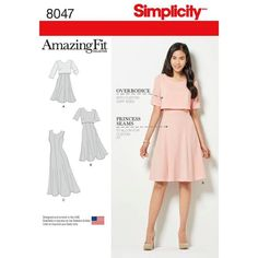 Simplicity Patterns Amazing Fit Misses Dress in Slim, Average & Curvy Fit Size: 8047 - deal coupon Simplicity Sewing Patterns, Dress Sewing Patterns, Clothing Patterns, Pattern Dress, Dress Paterns, Mccalls Patterns, Diy Clothing, Sewing Clothes, Diy Vetement