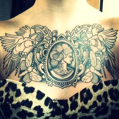 neck cameo tattoos - Google Search