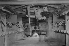 Une des très rare photos de l' intérieur d un Panzerwerfer 42