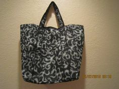 """Special Sale 25% Off: Extra Large Durable 14"""" Grocery Shopper Tote Bag Grey Flames by ShawnasSpecialties on Etsy"""