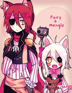 foxy x mangle human - Google Search