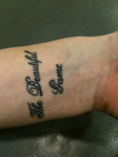 beautiful game tattoo