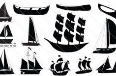 Sailboat Silhouette Vector (13)