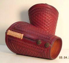 custom cowboy leather cuffs | 47.