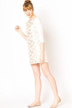 silk scallop dress.