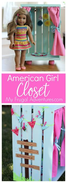Simple and inexpensive DIY American Girl Closet.