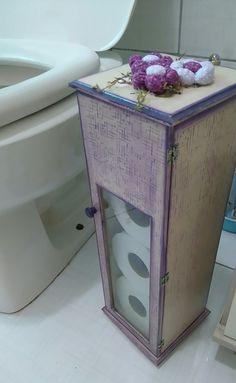 porta papel higienico Decoupage Vintage, Toilet, Shabby, Sewing, Storage, Box, Creative, Crafts, Furniture