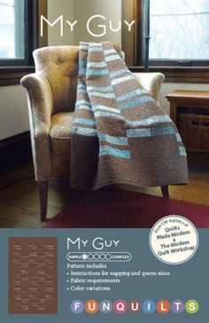 Modern Quilt Studio My Guy -: Pink Chalk Fabrics is your online source for modern quilting cottons and sewing patterns., Cloth, Pattern + Tool for Modern Sewists Quilt Studio, Man Quilt, Boy Quilts, Scrappy Quilts, Strip Quilts, Quilt Blocks, Quilting Projects, Quilting Designs, Sewing Projects