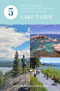 Lake Tahoe is a top destination for families in the Summer time. Check out this list of (mostly free) outdoor activities to do around Lake Tahoe to include best hiking and biking trails, campgrounds, beaches, spots for paddleboarding and more. Visit the link for all the best tips! #familytravel #laketahoe #tahoe #travelwithkids #outdooradventure #hiking #adventuretravel