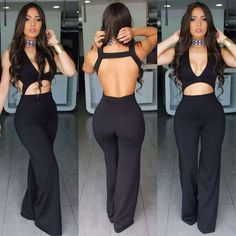 Ladies Women Clubwear Long Pants Playsuit Bodycon Party Jumpsuit&Romper Trousers in Clothing, Shoes & Accessories, Women's Clothing, Jumpsuits & Rompers Romper Long Pants, Playsuit Romper, Club Outfits For Women, Backless Jumpsuit, Silk Jumpsuit, Denim Jumpsuit, Black Jumpsuit, Floral Jumpsuit, Dress Black