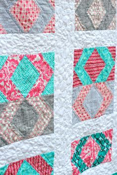 Modern Baby Quilt  by Lindsay Sews