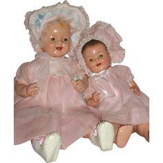 "Darling pair of Effanbee – Lovums Baby Dolls 17"" & 22"" c1930's found at www.rubylane.com @rubylanecom"