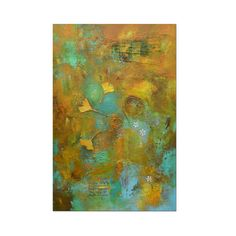 In this original abstract wall art painting, warm hues of earth (orange, yellow, and brown) blend and merge with cooler hues of water and sky (turquoise and sea green) to create a visual and textural symphony in mixed media. Natural leaves have been worked into the design along with other textural elements, creating a truly unique and eye-catching piece of art. Certificate of Authenticity included. Size of painting: 36 x 24 x 1.5 inches.  ♥ More Original Art Paintings: http://etsy.me/1BUsiBL…