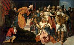 Esther before Ahasuerus by Jacopo Tintoretto from Monasterio de El Escorial, Spain