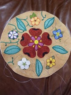 Work in progress, beadwork by Brenda Mahan 3/30/2014