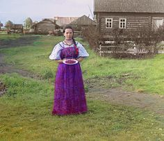 Girl with strawberries. [Russian Empire] by Sergey Mikhaylovich Prokudin-Gorsky, 1909