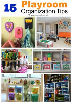 Kids Playroom Organization Tips | Mess For Less  15 ways to create a playroom that kids will use and that will stay organized!