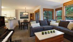 Whistler Rental Arrowhead Point #5 Open Concept Main Living Area @whistlrplatinum #vacation #rental #whistler #travel