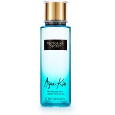 Victoria's Secret Aqua Kiss Fragrance Mist (830 DOP) ❤ liked on Polyvore featuring beauty products, fragrance, print and spray perfume