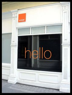 Orange Shop | Display window design by EVERYDAYLIFEMODERN, via Flickr