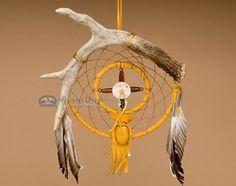 """Deer Antler Dream Catcher Medicine Wheel 6"""" (dc6-15)"""