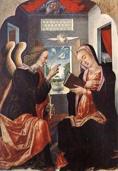 VIVARINI Bartolomeo (Venezia, 1430 circa – dopo il 1491) - Annunciation    #TuscanyAgriturismoGiratola